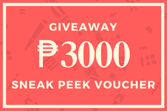 Giveaway SNEAK PEEK VOUCHER